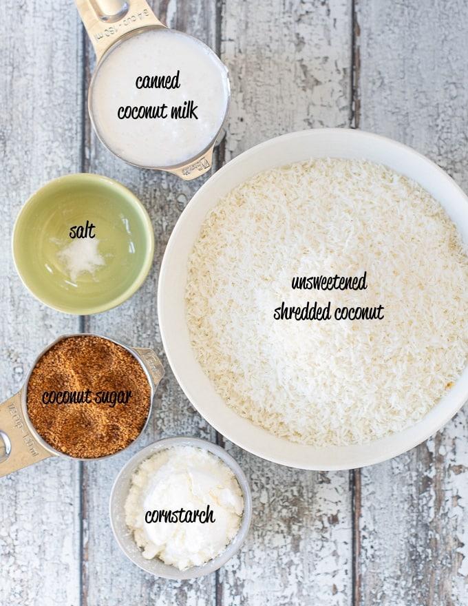 homemade vegan coconut macaroons ingredients