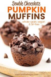 Double Chocolate Pumpkin Muffins