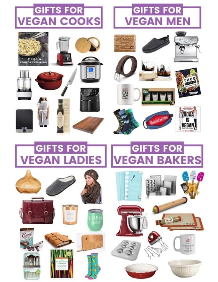 Holiday season is here and I have curated a collection of amazing gifts for vegans to help you check everyone off your list with the least fuss possible. It includes gifts for vegan cooks, vegan men, vegan ladies, vegan bakers and vegan pet lovers and everything an be purchased from the comfort of your own home!