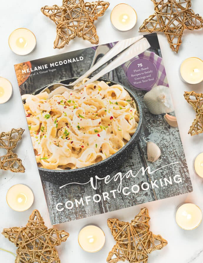 picture of the book Vegan Comfort Cooking by Melanie McDonald