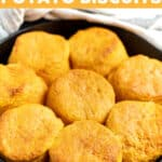 Soft, sweet and buttery homemade Vegan Sweet Potato Biscuits. Quick and easy to make and perfectly tall, flaky and tender. Comfort food at it's best!
