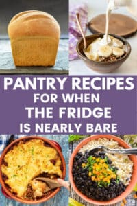 Take advantage of staple ingredients in your pantry to make some of these delicious pantry recipes. See my tips for how to adapt them to make them work with what you have on hand.