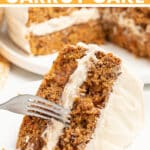 The perfect Vegan Carrot Cake! It's perfectly spiced with a super moist crumb and is smothered in decadent, ultra-creamy vegan cream cheese frosting.