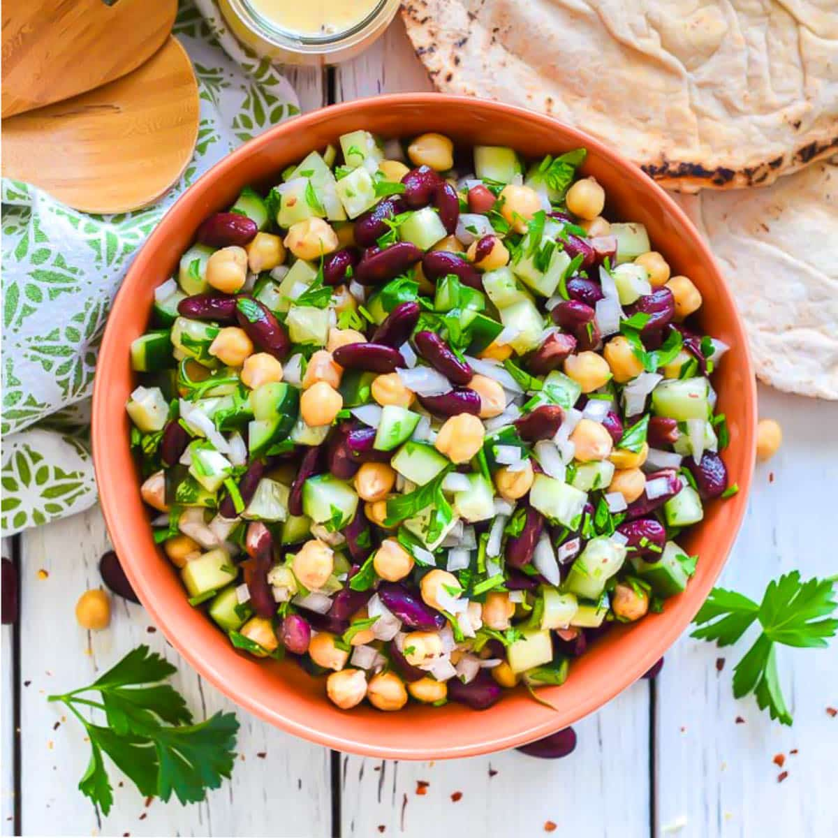 Kidney Bean Salad With Lemon Garlic Dressing A Virtual Vegan