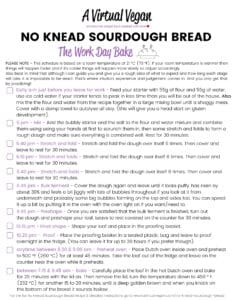 Sample sourdough baking schedule - the work day bake