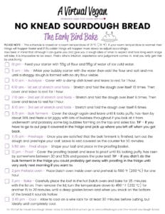 Soudough Bread Printing Schedule - The early bird bake