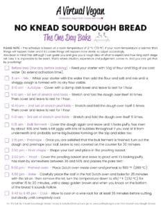 Free sourdough scedule printable - The One Day Bake