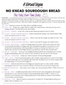 Sourdough bread baking schedule - the take your time bake