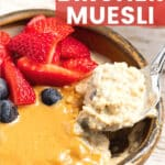 a bowl of Bircher muesli