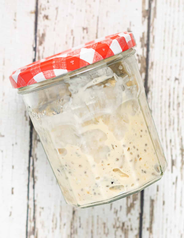 a jar of Bircher muesli