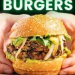 a vegan black bean burger in a bun