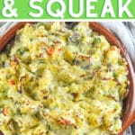 bubble and squeak in a dish
