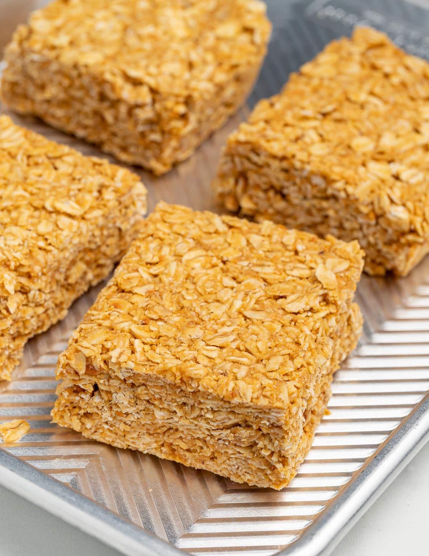 a no bake oatmeal peanut butter bar