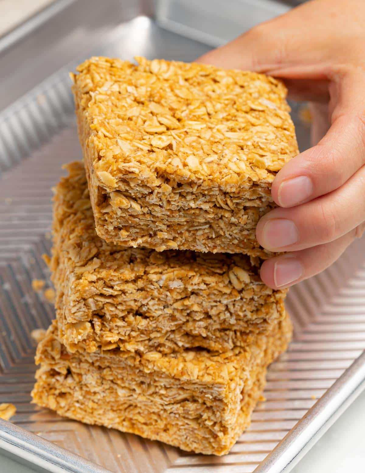 a stack of oaty bars