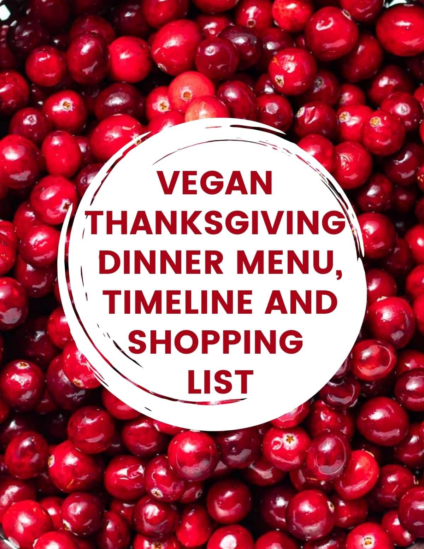 vegan thanksgiving dinner menu