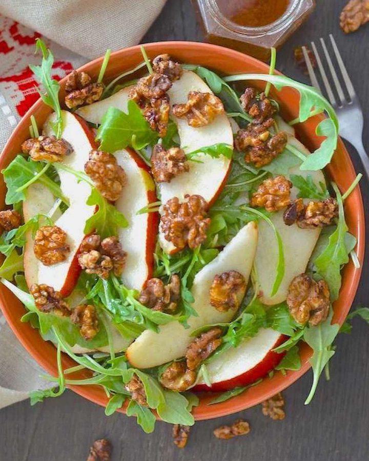 pear walnut arugula salad