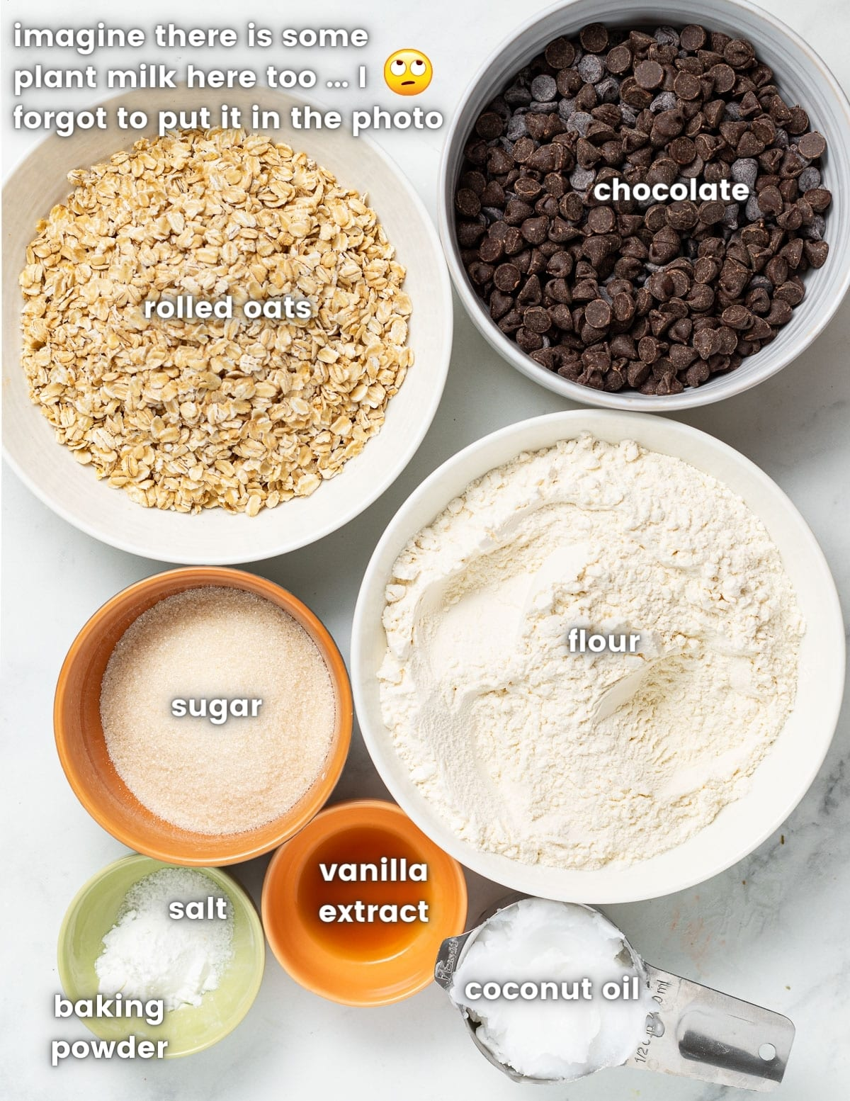 photograph of the ingredients as per the ingredients list