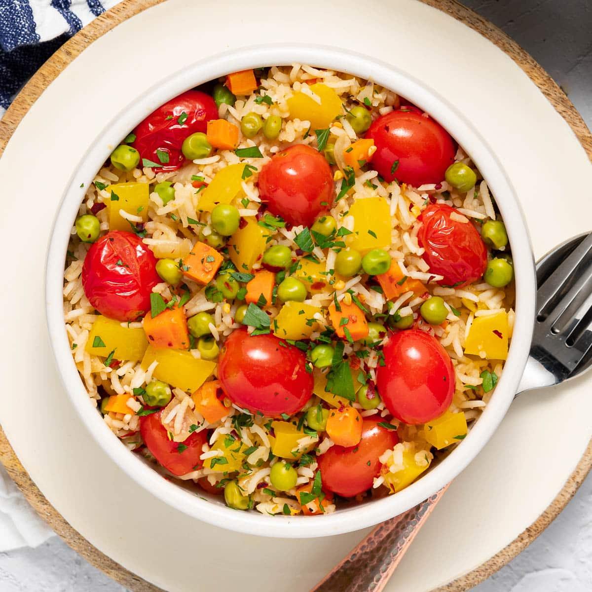 a bowl of savoury rice