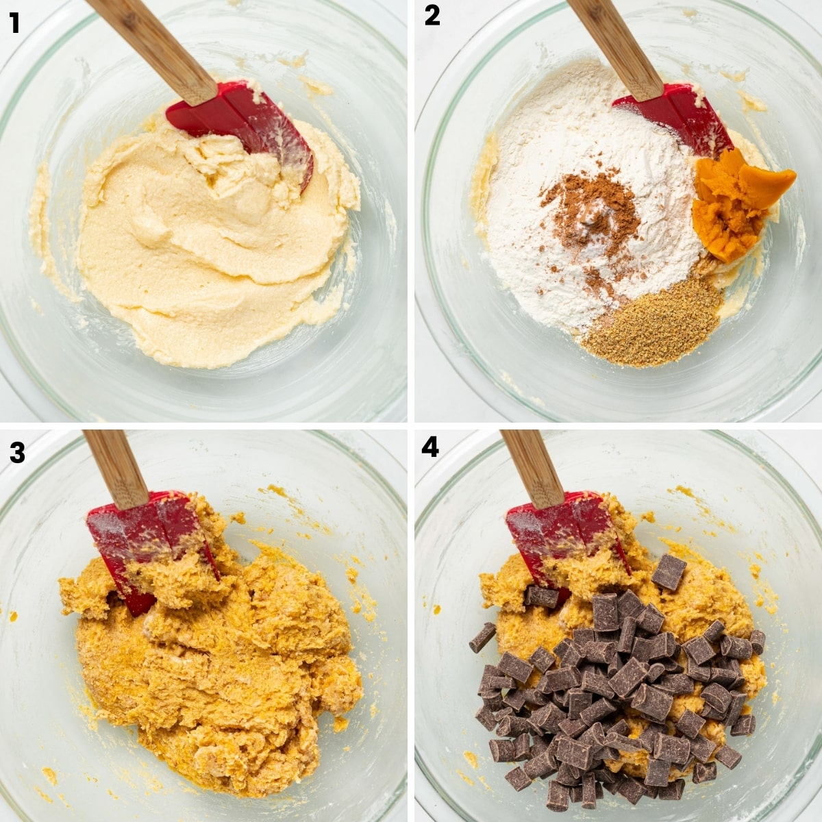 stages of making cookie dough