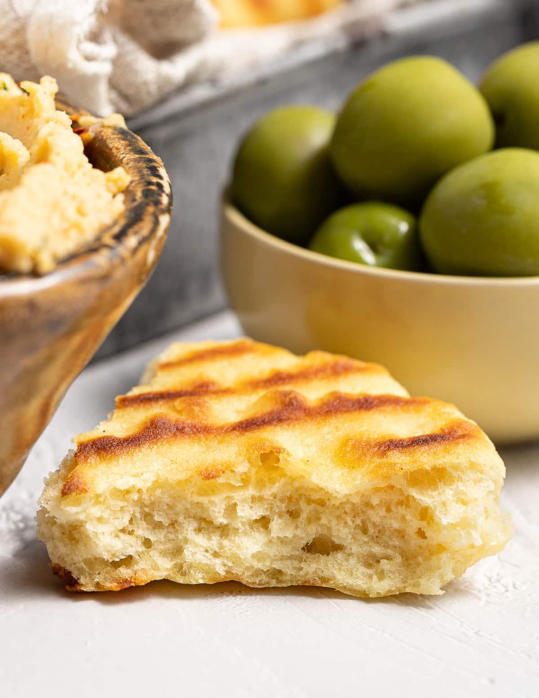 a piece of flatbread