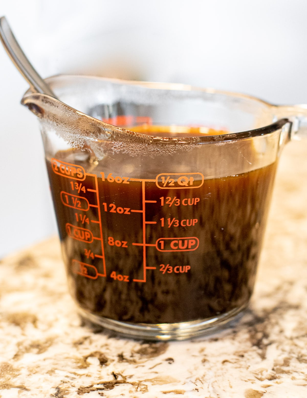 a jug of molasses and boiling water