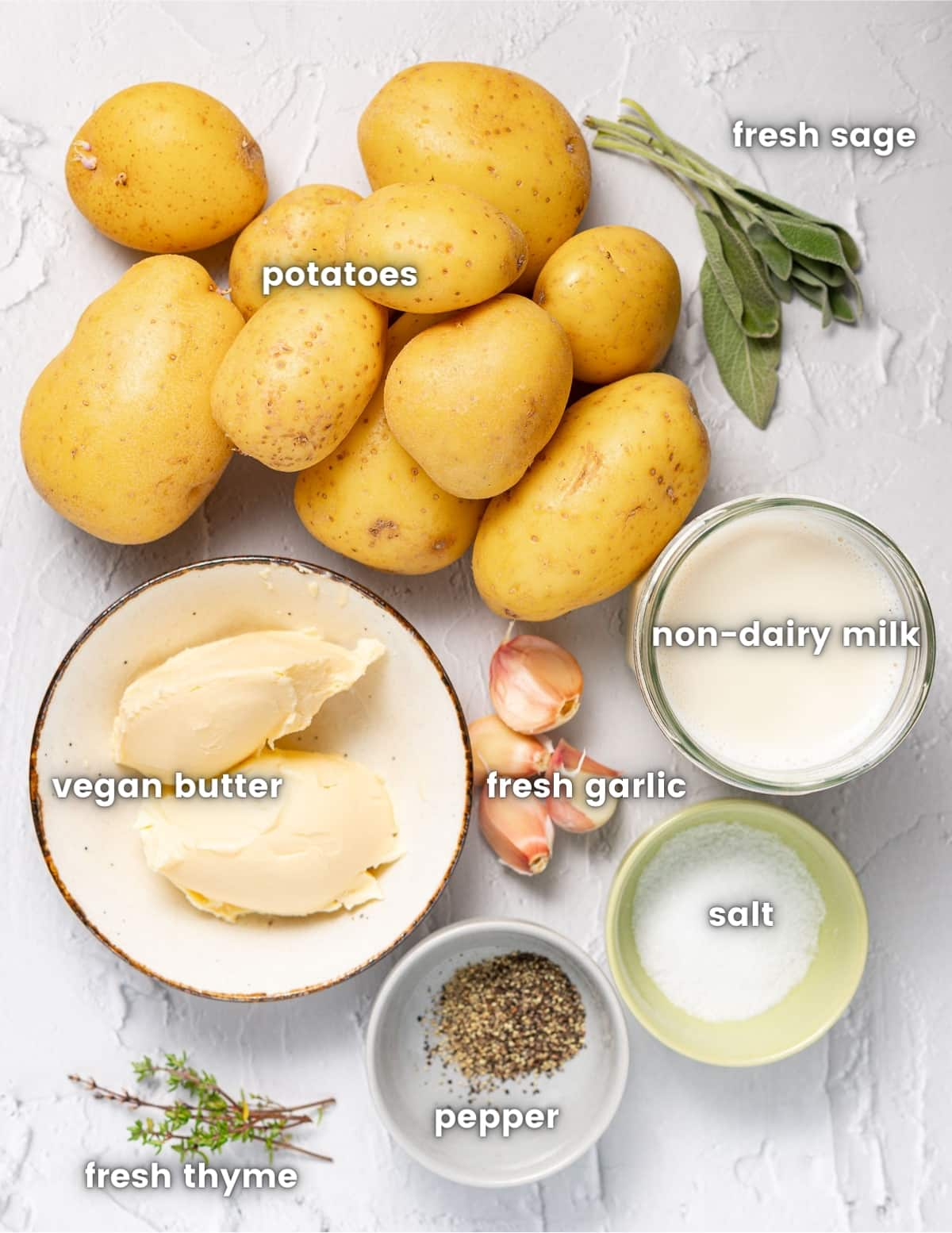 ingredients for vegan mashed potatoes as per the listed ingredients