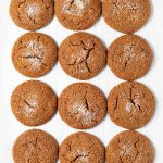 12 vegan molasses cookies