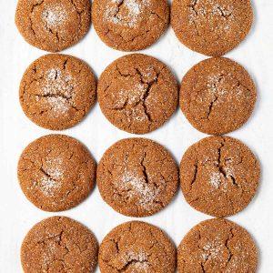 12 vegan molasses cookies