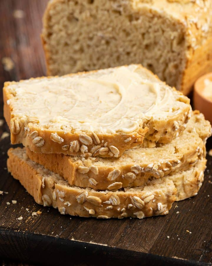slices of no yeast white bread