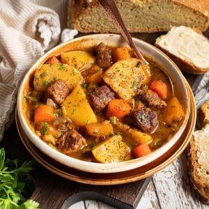 a bowl of Irish stew