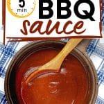 Vegan BBQ Sauce in a pan