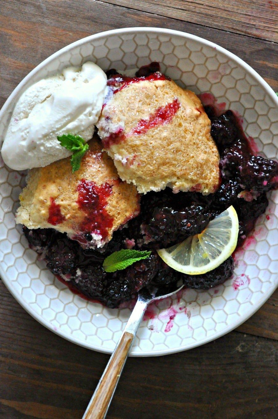 blackberry lemon cobbler