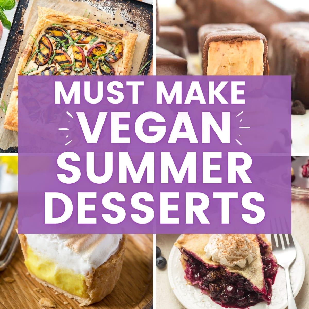 vegan summer desserts