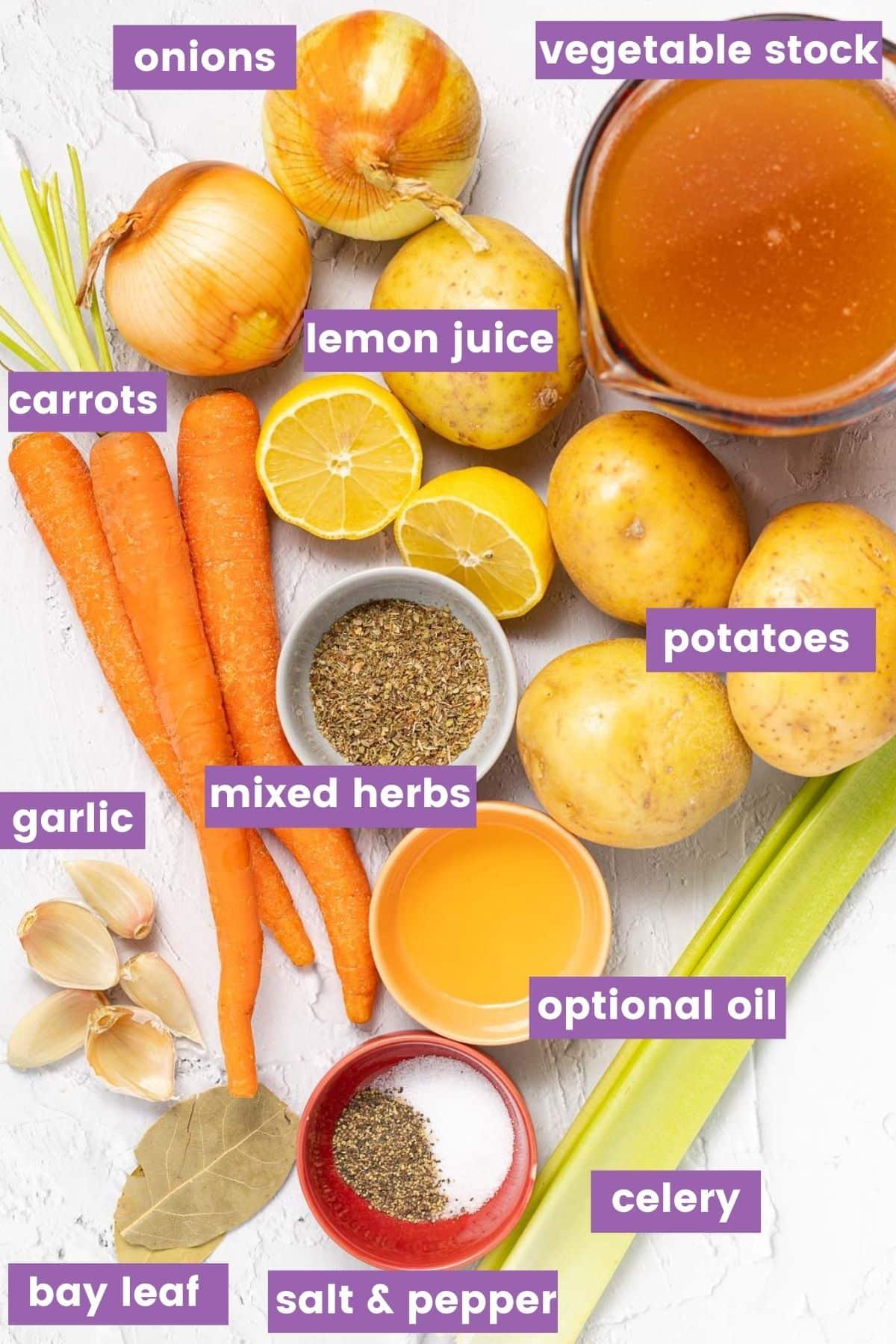 ingredients (as per the written recipe)