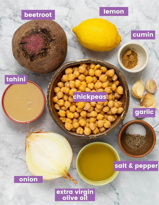 beet hummus ingredients as per written list