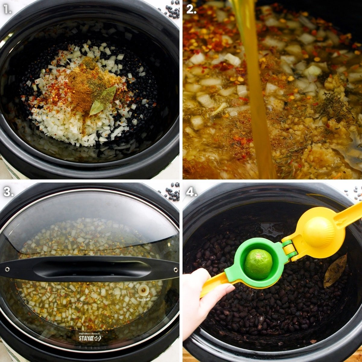 how to make black beans in a slow cooker