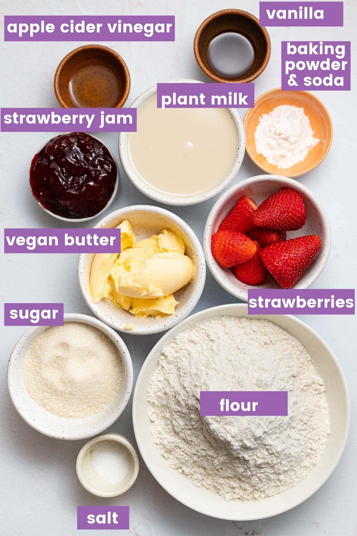 strawberry muffin ingredients as per written ingredient list