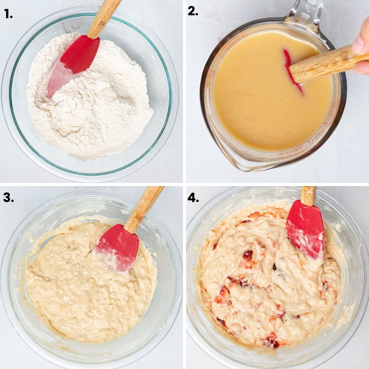 how to make strawberry muffins as per the written instructions