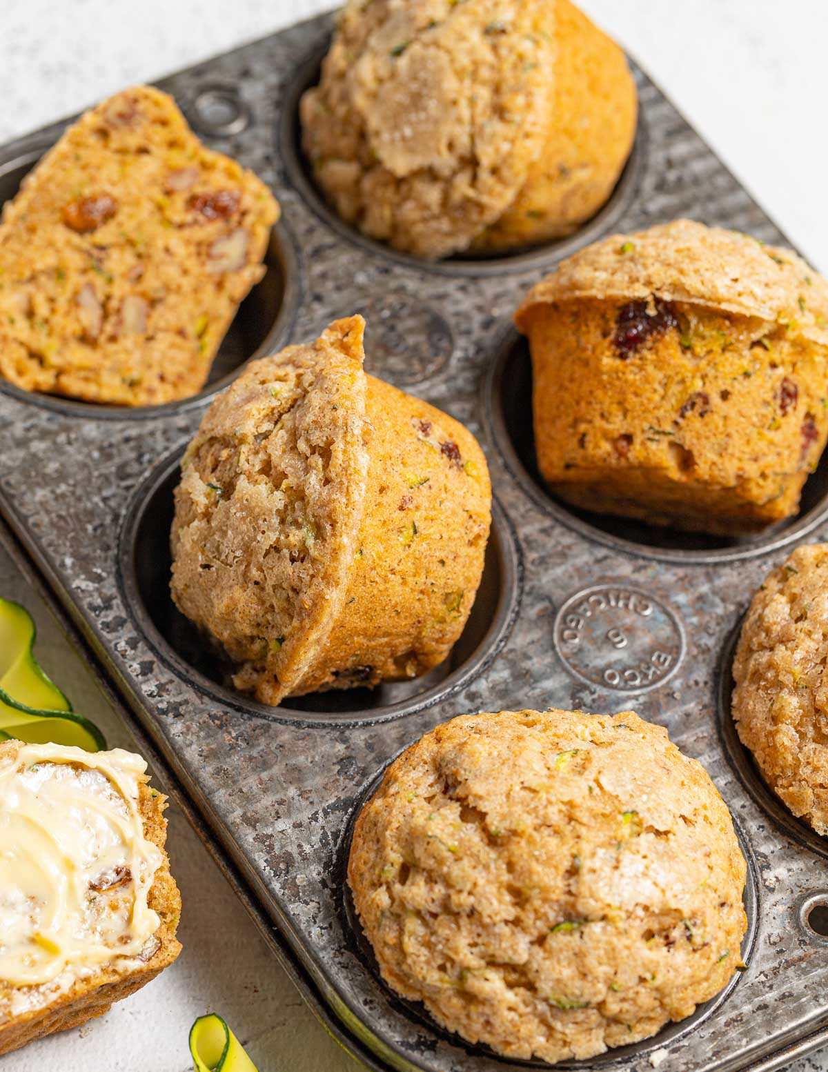 muffins in an antique pan