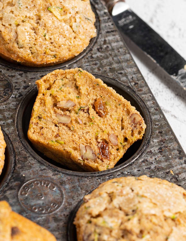 half of a muffin