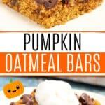 Pumpkin Oatmeal Bars