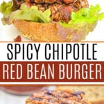 Spicy Chipotle Red Bean Burgers