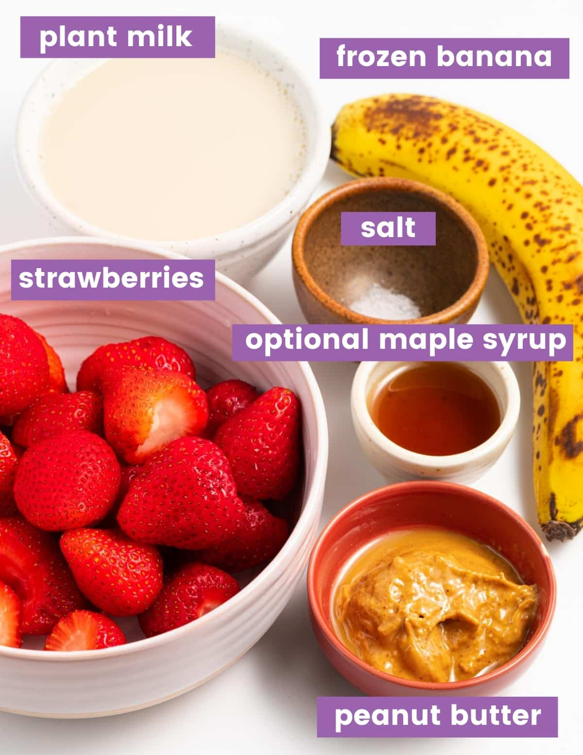 ingredients for smoothie as per the written ingredient list