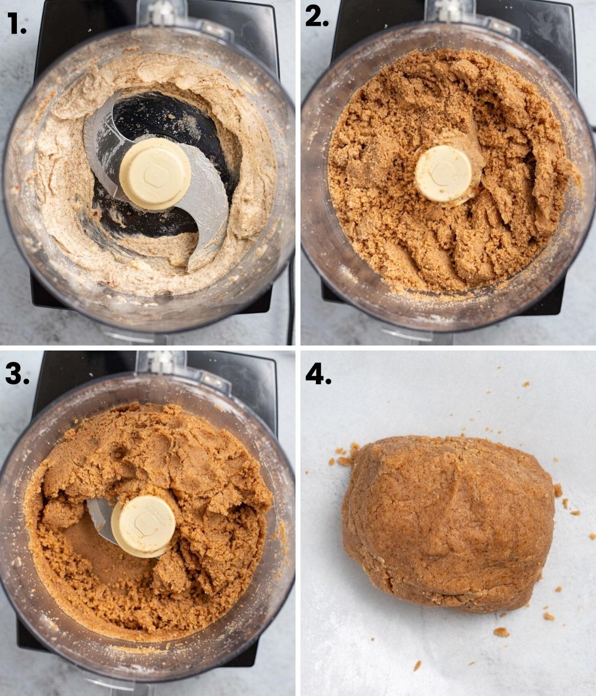 making graham cracker dough