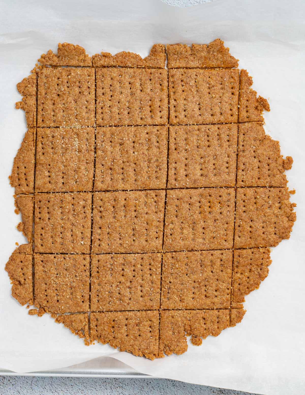 cooked uncut graham crackers