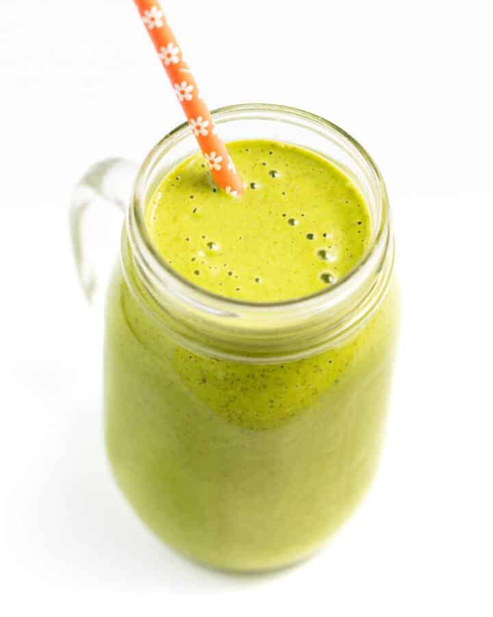 a vegan green smoothie