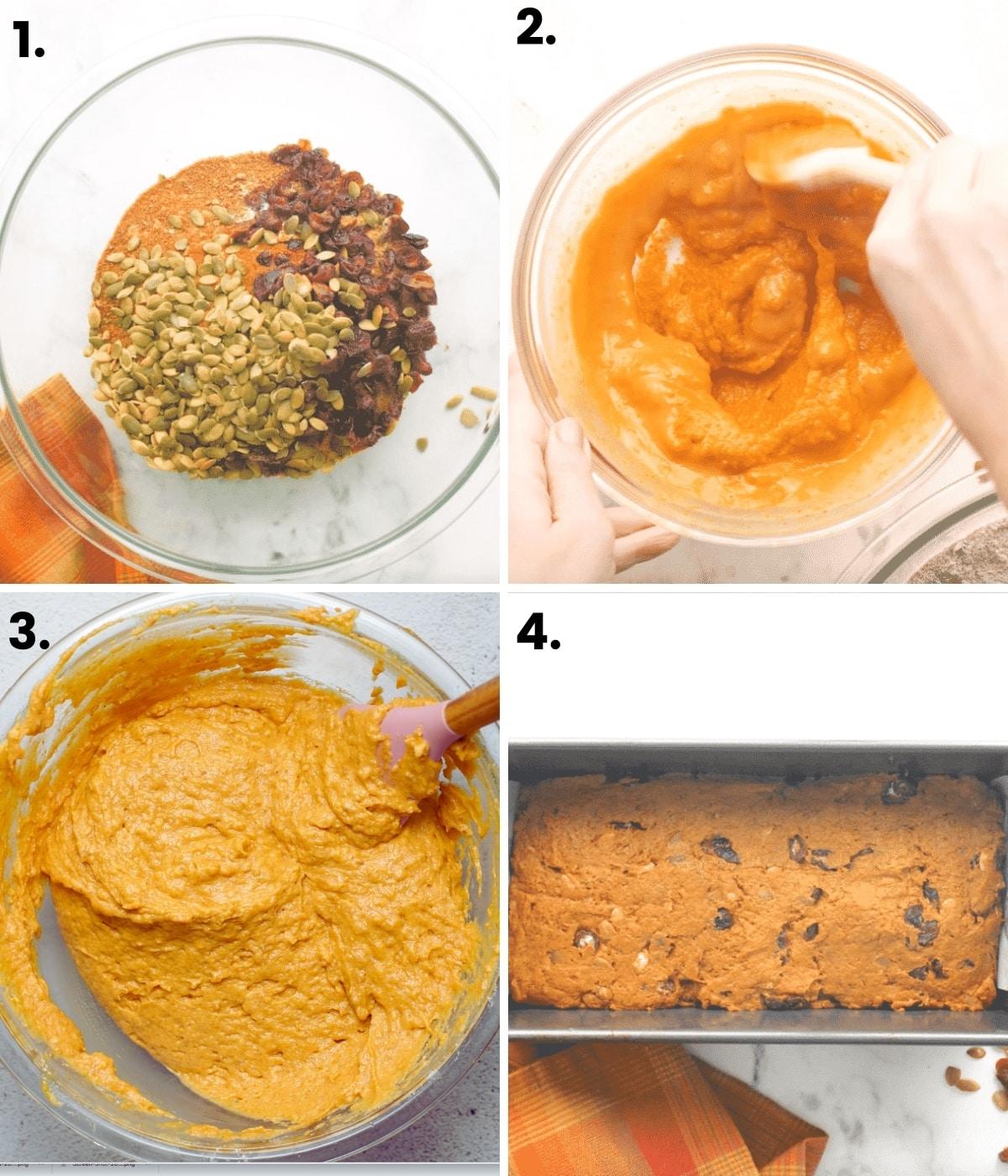 making vegan pumpkin bread