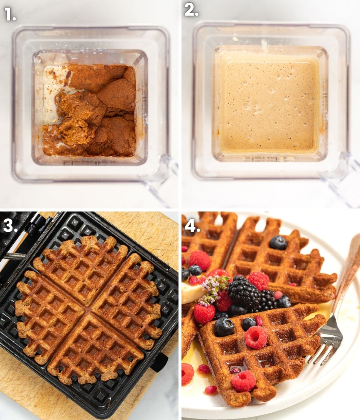how to make oatmeal waffles as per the written ingredients