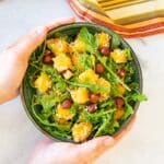 a bowl of quinoa butternut squash salad