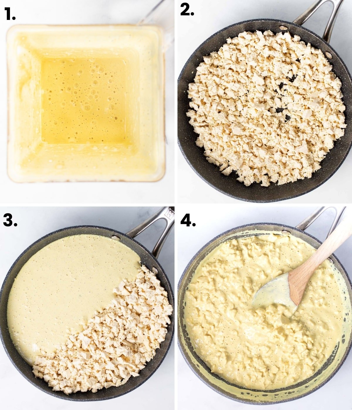 how to make vegan scrambled eggs as per the written instructions